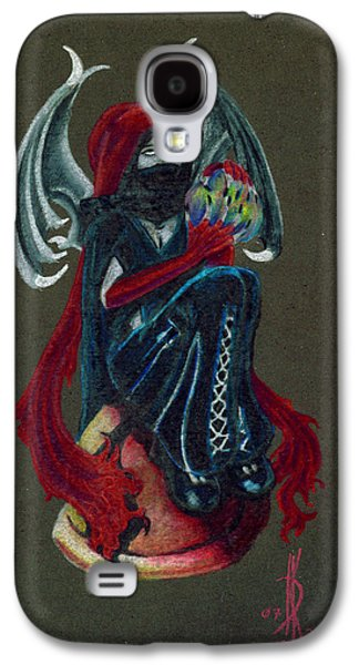 Fantasy Drawings Galaxy S4 Cases - Wicked Goth Fairy Galaxy S4 Case by Kd Neeley