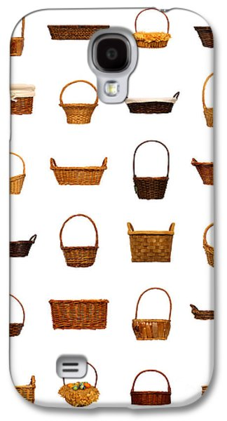 Basket Galaxy S4 Cases - Wicker Basket Collection Galaxy S4 Case by Olivier Le Queinec