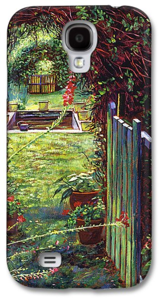 Terra Paintings Galaxy S4 Cases - Wicket Garden Gate Galaxy S4 Case by David Lloyd Glover