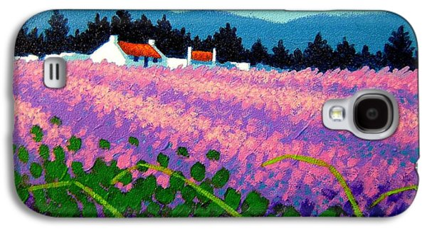Landscape Acrylic Prints Paintings Galaxy S4 Cases - Wicklow Lavender - Ireland Galaxy S4 Case by John  Nolan