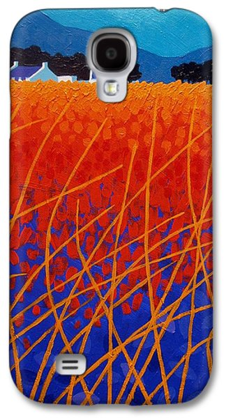 Landscape Acrylic Prints Paintings Galaxy S4 Cases - Wicklow Meadow Galaxy S4 Case by John  Nolan