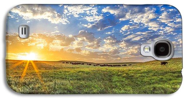 Black Angus Galaxy S4 Cases - Wide Open Spaces Galaxy S4 Case by Jill Van Doren Rolo