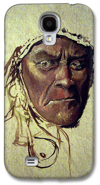Native American Spirit Portrait Paintings Galaxy S4 Cases - Wild And Glorious Galaxy S4 Case by Mikhail Savchenko