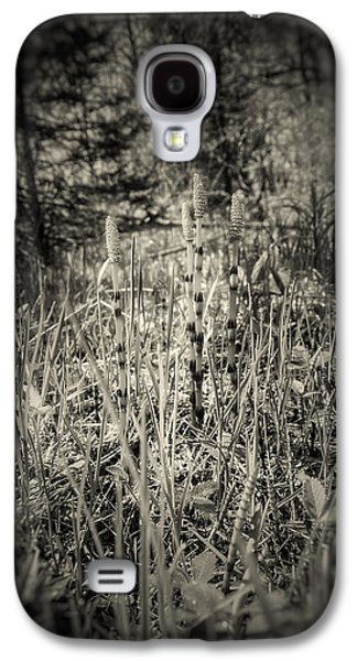 Wild Orchards Galaxy S4 Cases - Wild Asparagus Black and White Galaxy S4 Case by LeeAnn McLaneGoetz McLaneGoetzStudioLLCcom