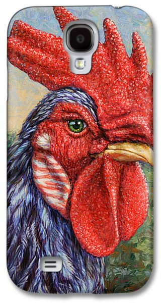 Freed Galaxy S4 Cases - Wild Blue Rooster Galaxy S4 Case by James W Johnson