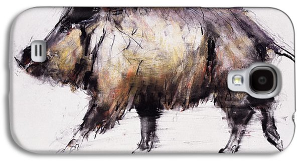 Tusk Galaxy S4 Cases - Wild Boar, 1999 Graphite, Conte And Charcoal On Paper Galaxy S4 Case by Mark Adlington
