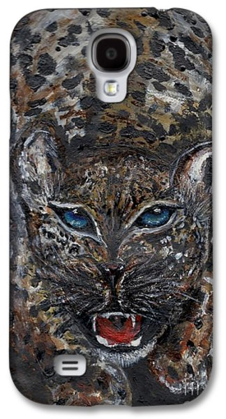 Bobcats Drawings Galaxy S4 Cases - Wild By Nature Galaxy S4 Case by Lori  Lovetere