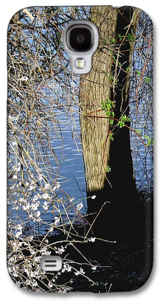 Spring Greening Galaxy S4 Cases - Wild Cherry Tree on the Sacramento River  Galaxy S4 Case by Pamela Patch