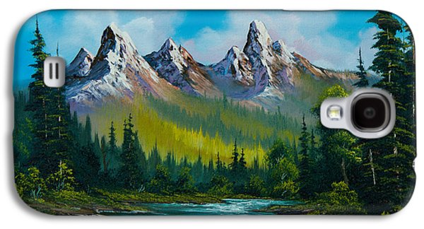 Sawtooth Mountain Paintings Galaxy S4 Cases - Wild Country  Galaxy S4 Case by C Steele