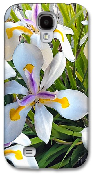 Portraits Tapestries - Textiles Galaxy S4 Cases - Wild Fairy Iris Patch Galaxy S4 Case by John Castell