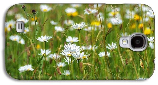 Fauna Photographs Galaxy S4 Cases - Wild Flower Meadow Galaxy S4 Case by Janet Burdon