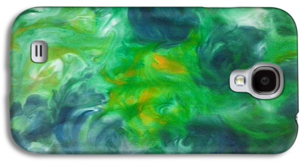 Blue Abstracts Galaxy S4 Cases - Wild Flower Galaxy S4 Case by Tammy Gascon
