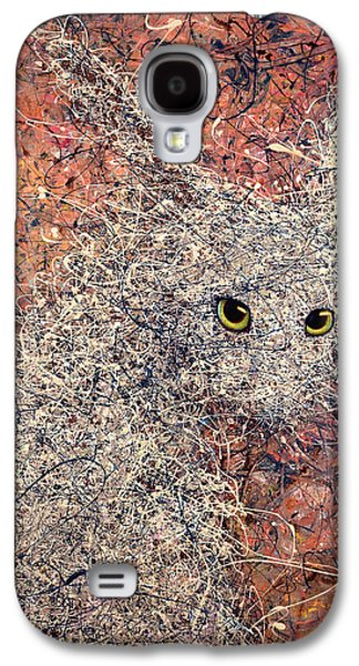Drip Paintings Galaxy S4 Cases - Wild Hare Galaxy S4 Case by James W Johnson