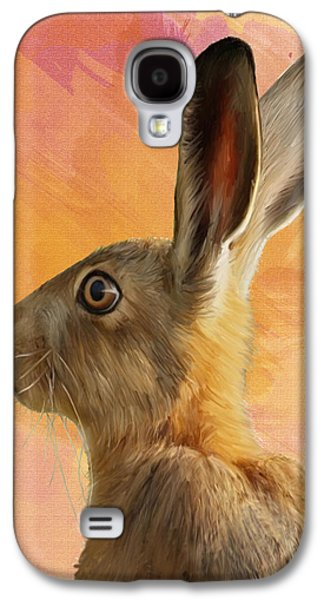 March Hare Galaxy S4 Cases - Wild Hare Galaxy S4 Case by Tanya Hall