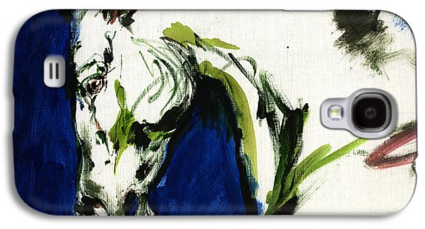 Abstract Expression Galaxy S4 Cases - Wild Horse Galaxy S4 Case by Angel  Tarantella