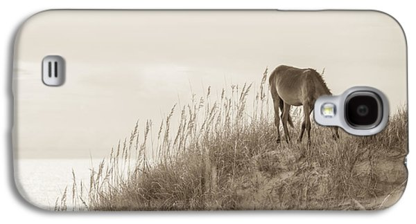 Wild Horse Galaxy S4 Cases - Wild Horse on the Outer Banks Galaxy S4 Case by Diane Diederich