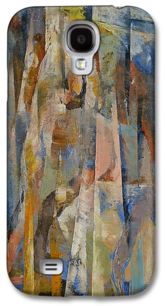 Wild Horse Paintings Galaxy S4 Cases - Wild Horses Abstract Galaxy S4 Case by Michael Creese
