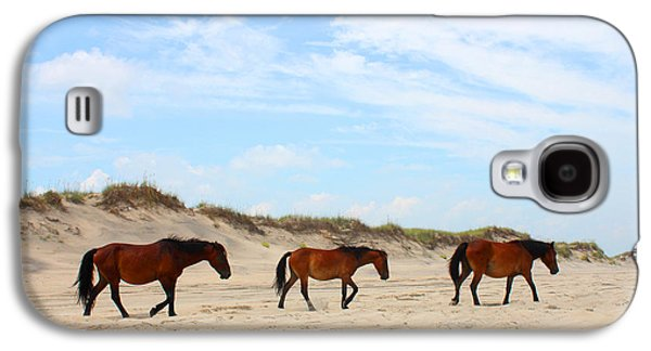 Wild Horse Galaxy S4 Cases - Wild Horses of Corolla - Outer Banks OBX Galaxy S4 Case by Design Turnpike