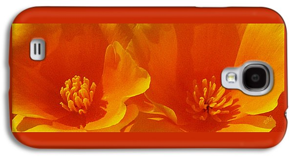 Abstract Digital Galaxy S4 Cases - Wild Poppies Galaxy S4 Case by Ben and Raisa Gertsberg