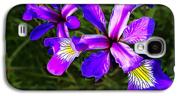 Photo Manipulation Photographs Galaxy S4 Cases - Wild Purple Iris Galaxy S4 Case by Bill Caldwell -        ABeautifulSky Photography