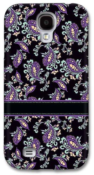 70s Galaxy S4 Cases - Wild Purple Paisley Galaxy S4 Case by Jenny Armitage