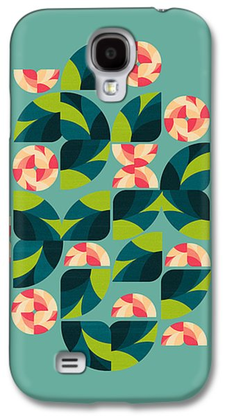 Abstract Digital Digital Galaxy S4 Cases - Wild Roses Galaxy S4 Case by VessDSign