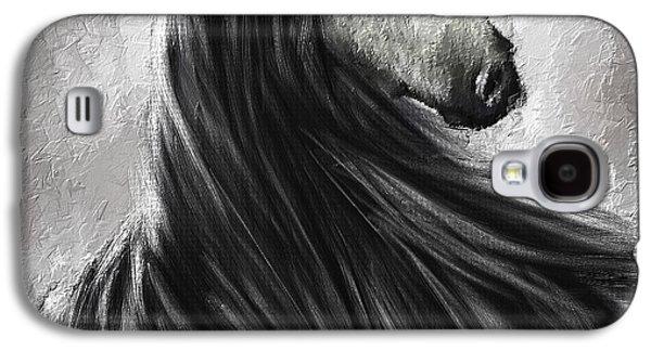 Quarter Horses Galaxy S4 Cases - Wild Soul- Fine Art Horse Artwork Galaxy S4 Case by Lourry Legarde
