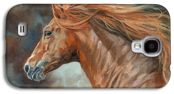 Wild Horse Paintings Galaxy S4 Cases - Wild Stallion Galaxy S4 Case by David Stribbling