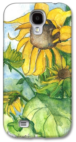 Wild Orchards Galaxy S4 Cases - Wild Sunflowers Galaxy S4 Case by Sherry Harradence