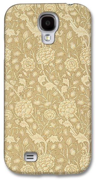 Floral Tapestries - Textiles Galaxy S4 Cases - Wild Tulip wallpaper design Galaxy S4 Case by William Morris
