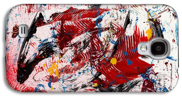 Swiss Mixed Media Galaxy S4 Cases - Wild Waves - White Galaxy S4 Case by Manuel Sueess