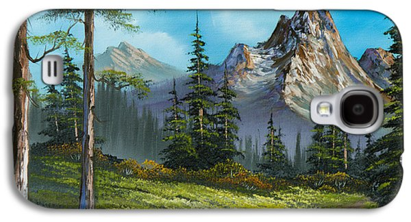 Sawtooth Mountain Paintings Galaxy S4 Cases - Wilderness Trail Galaxy S4 Case by C Steele