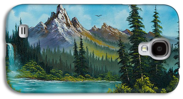 Ross Paintings Galaxy S4 Cases - Wilderness Waterfall Galaxy S4 Case by C Steele