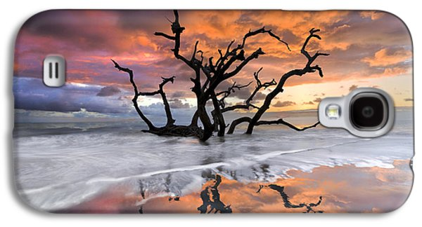 Abstract Nature Photographs Galaxy S4 Cases - Wildfire Galaxy S4 Case by Debra and Dave Vanderlaan