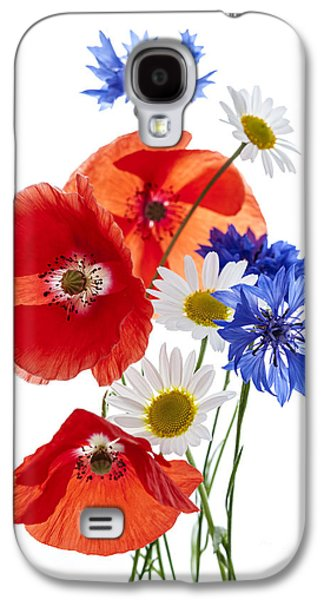 Cutouts Galaxy S4 Cases - Wildflower arrangement Galaxy S4 Case by Elena Elisseeva