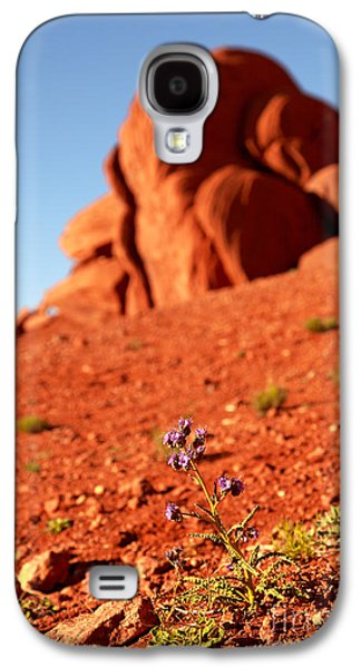 Monument Galaxy S4 Cases - Wildflower Monument Valley Galaxy S4 Case by Jane Rix