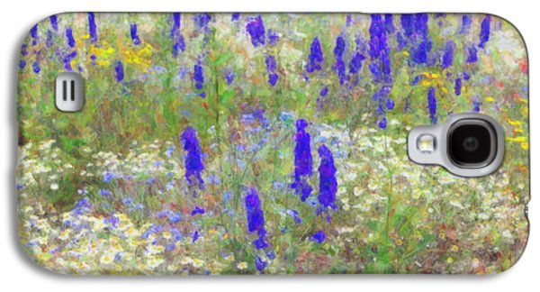Botanical Digital Art Galaxy S4 Cases - Wildflower Watercolour Galaxy S4 Case by Tim Gainey