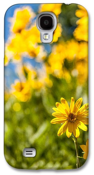 Idaho Photographs Galaxy S4 Cases - Wildflowers Standing Out Abstract Galaxy S4 Case by Chad Dutson