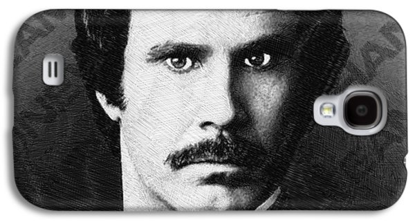 Satire Mixed Media Galaxy S4 Cases - Will Ferrell Anchorman The Legend of Ron Burgundy Drawing Galaxy S4 Case by Tony Rubino