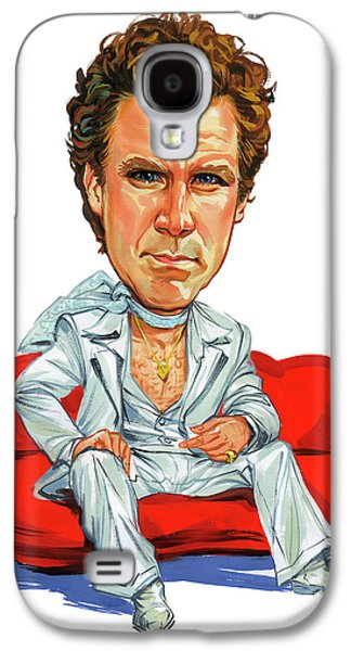 Person Galaxy S4 Cases - Will Ferrell Galaxy S4 Case by Art