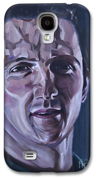 Rugby Paintings Galaxy S4 Cases - Will Greenwood Galaxy S4 Case by James Lavott