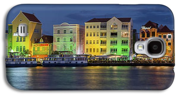 Landscapes Photographs Galaxy S4 Cases - Willemstad Curacao at Night Panoramic Galaxy S4 Case by Adam Romanowicz