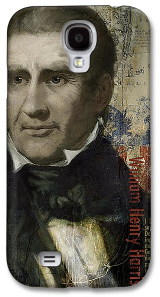 James Buchanan Galaxy S4 Cases - William Henry Harrison Galaxy S4 Case by Corporate Art Task Force