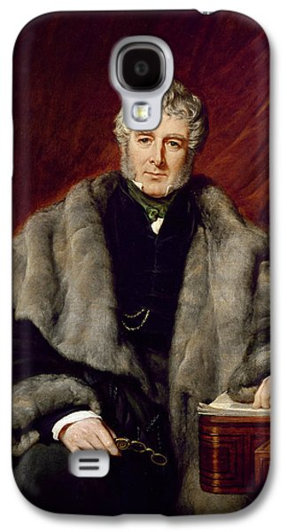Sideburns Galaxy S4 Cases - William Lamb, 2nd Viscount Melbourne, 1844 Oil On Canvas Galaxy S4 Case by John Partridge