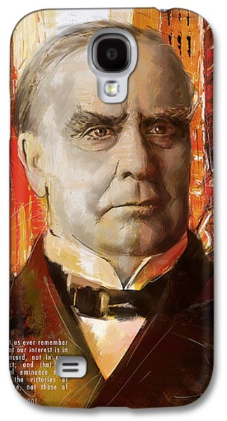 James Buchanan Galaxy S4 Cases - William McKinley Galaxy S4 Case by Corporate Art Task Force