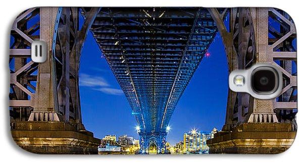 Light Galaxy S4 Cases - Williamsburg Bridge 4 Galaxy S4 Case by Az Jackson