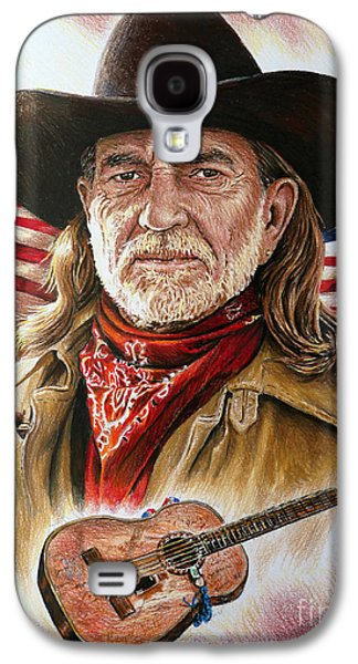 Best Sellers -  - 4th July Galaxy S4 Cases - Willie Nelson American Legend Galaxy S4 Case by Andrew Read