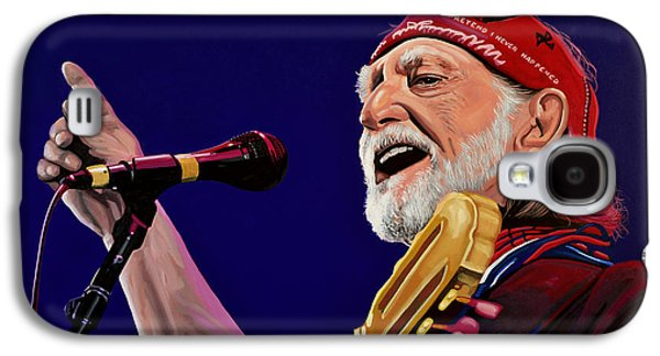 Nashville Paintings Galaxy S4 Cases - Willie Nelson Galaxy S4 Case by Paul Meijering