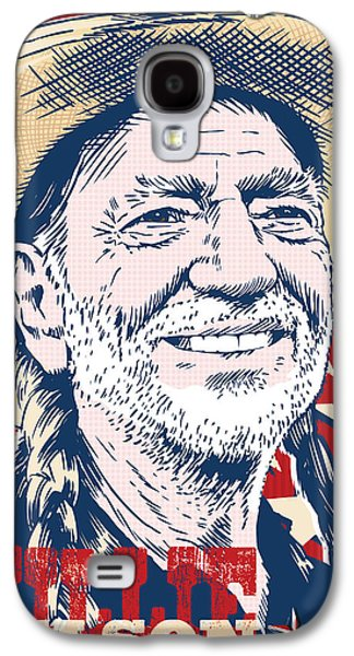 Pop Music Galaxy S4 Cases - Willie Nelson Pop Art Galaxy S4 Case by Jim Zahniser