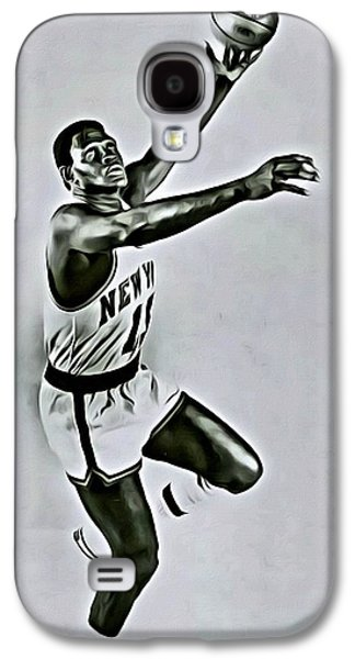 Nba Galaxy S4 Cases - Willis Reed Galaxy S4 Case by Florian Rodarte